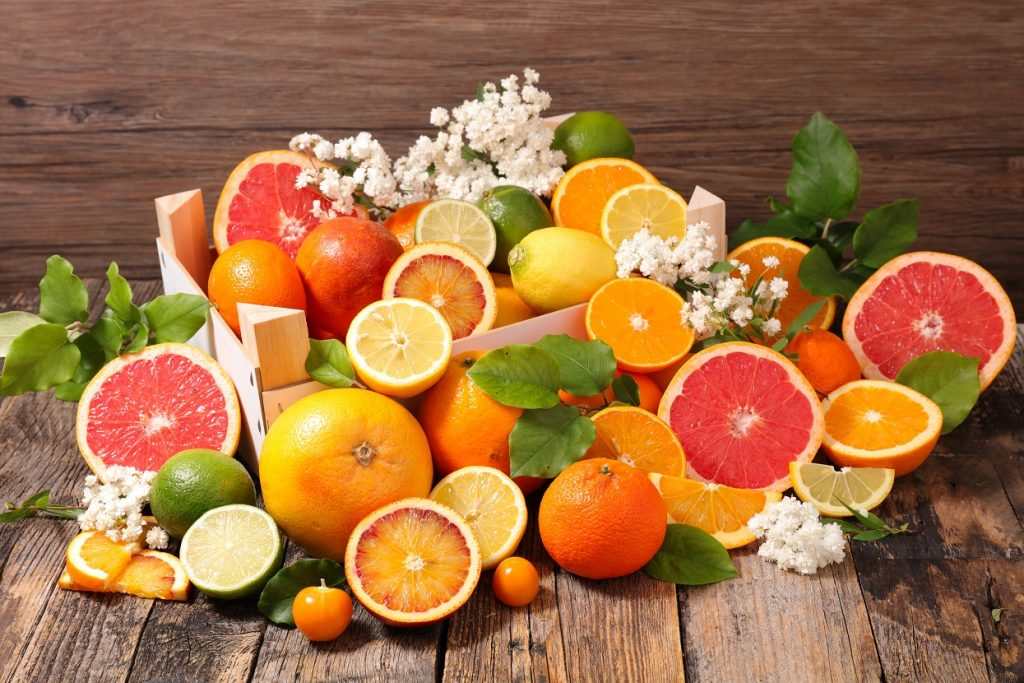 assorted citrus fruit
